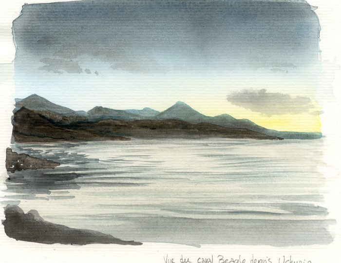 Vue du Canal Beagle depuis Ushuaia